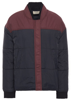 Ba&sh Woman Douce Two-tone Quilted Shell Jacket Storm Blue