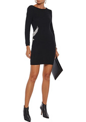 Ba&sh Woman Oia Crystal-embellished Wool And Cashmere-blend Mini Dress Red