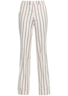 Ba&sh Woman Farah Striped Twill Straight-leg Pants Ecru