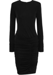 Ba&sh Woman Jamy Ruched Stretch-jersey Mini Dress Black