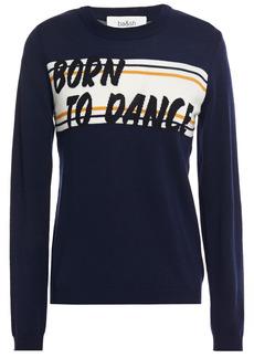 Ba&sh Woman Latine Intarsia Wool Sweater Navy