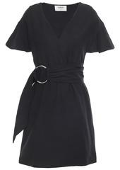 Ba&sh Woman Malda Belted Crepe Mini Dress Black