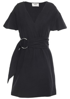 Ba&sh Woman Malda Belted Crepe Mini Dress Black