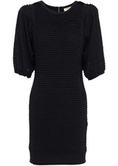 Ba&sh Woman Nolita Ruffled Crocheted Mini Dress Black
