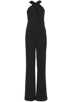 Ba&sh Woman Oasis Crossover Open-back Crepe Jumpsuit Black
