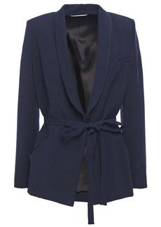 Ba&sh Woman Padova Belted Crepe Jacket Navy