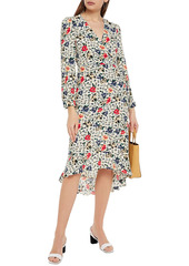 Ba&sh Woman Paloma Wrap-effect Floral-print Crepe Dress Ecru