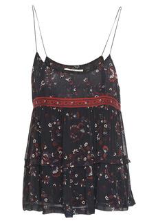 Ba&sh Woman Layered Printed Gauze Camisole Black