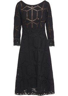 Ba&sh Woman Rosewelle Macramé Lace-trimmed Crocheted Midi Dress Black