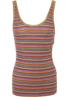 Ba&sh Woman Stay Striped Metallic Ribbed-knit Tank Multicolor
