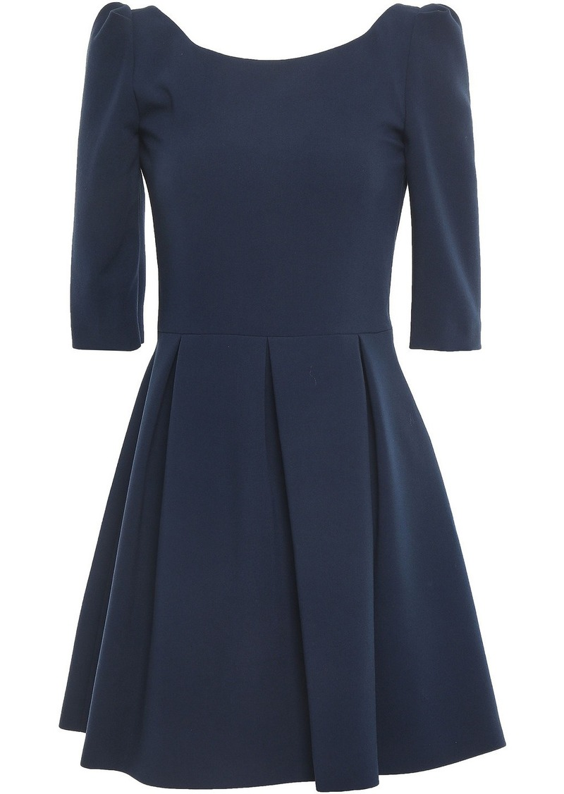 Ba&sh Woman Vadea Open-back Pleated Cady Mini Dress Midnight Blue