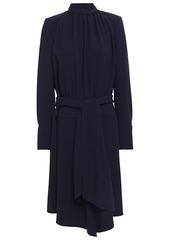 Ba&sh Woman Valerie Tie-front Crepe Dress Midnight Blue