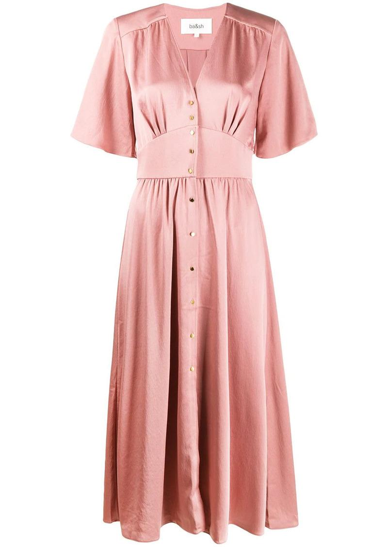 ba&sh button front dress