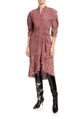 ba&sh Chelsea Printed 3/4-Sleeve Dress