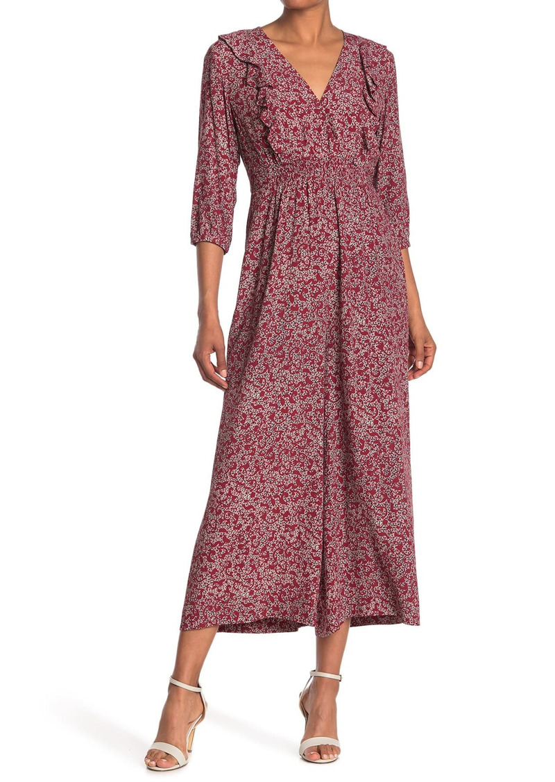 ba&sh Cloy Floral Wide Leg Jumpsuit