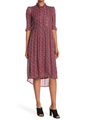 ba&sh Dale High/Low Silk Blend Dress