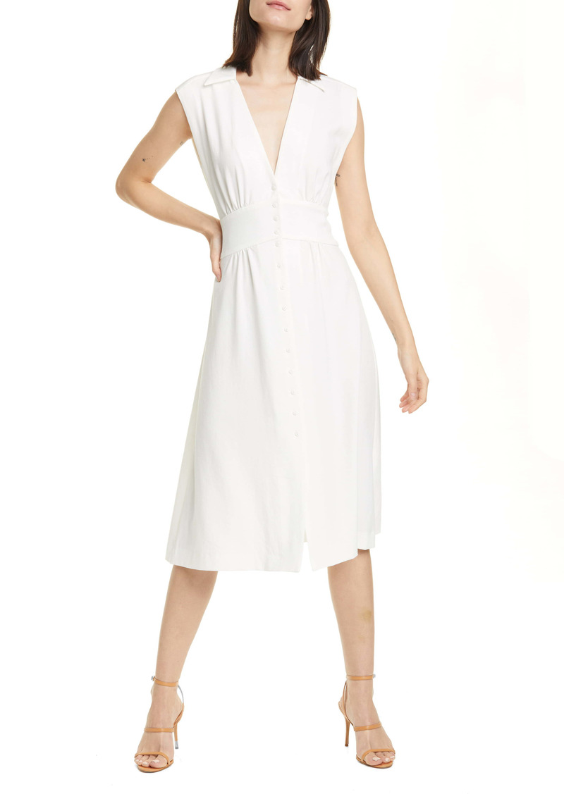 ba&sh Faith Sleeveless Midi Shirtdress