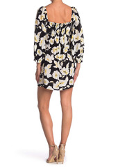 ba&sh Fire Floral Square Neck Dress