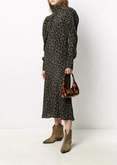 ba&sh floral-print high neck dress