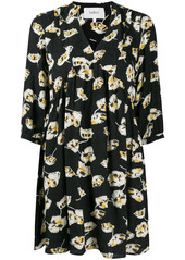 ba&sh floral-print pleated shift dress