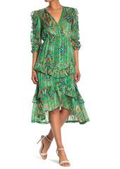 ba&sh Happy Floral Printed Midi Dress