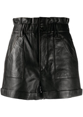 ba&sh Kate leather shorts