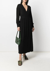 ba&sh Lamia V-neck midi dress