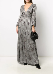 ba&sh Lili metallized maxi dress