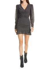 ba&sh Little Wrap Front Long Sleeve Dress