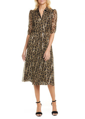 ba&sh Leopard Button Down Dress