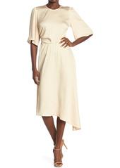 ba&sh Nora Asymmetrical Hem Midi Dress