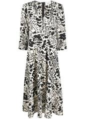 ba&sh Olga abstract-print dress