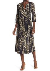 ba&sh Orson Floral V-Neck Midi Dress