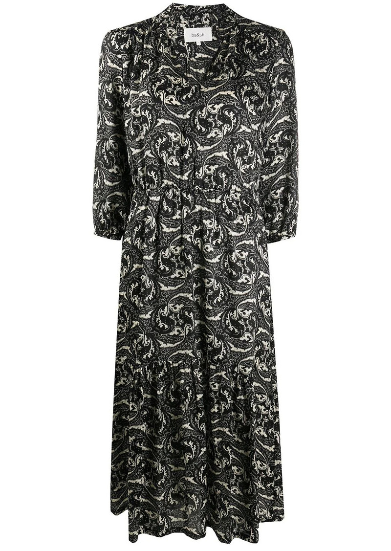 ba&sh paisley print midi dress