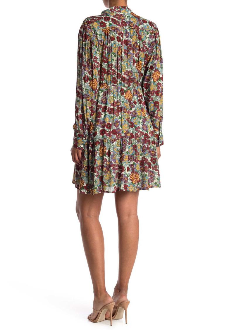 ba&sh Pold Floral Pleated Dress