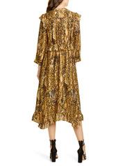ba&sh Sahara Snakeskin Print Midi Dress