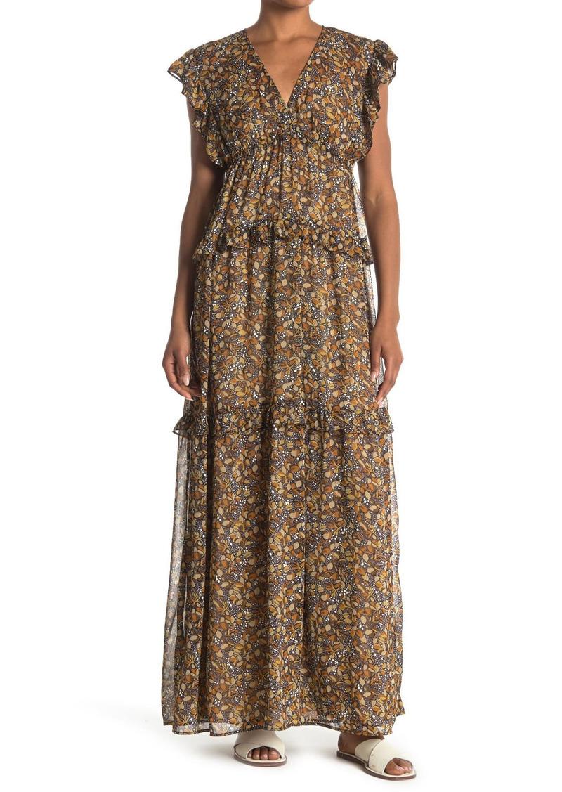 ba&sh Sama Leaf Printed Maxi Dress