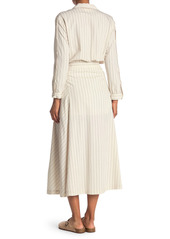 ba&sh Sami Stripe Button Front Dress