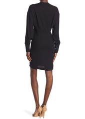 ba&sh Sarah Twist Front Long Sleeve Dress