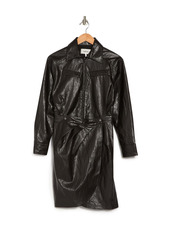 ba&sh Sophia Faux Leather Dress