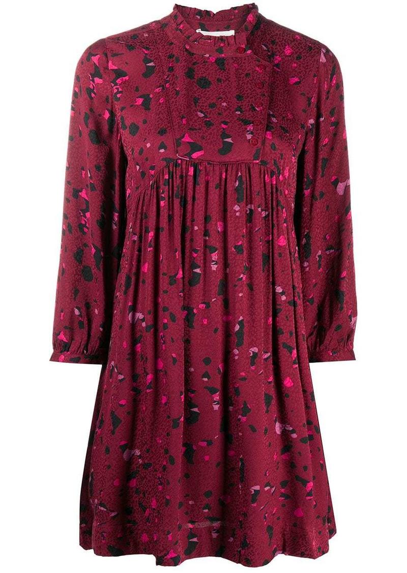ba&sh Telma geometric-print mini dress