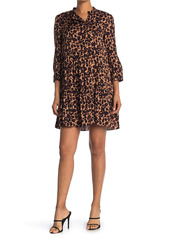ba&sh Tiana Leopard Print Babydoll Dress