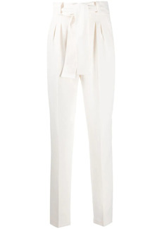 ba&sh tie-waist high rise trousers