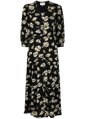 ba&sh Ullia floral jacquard dress