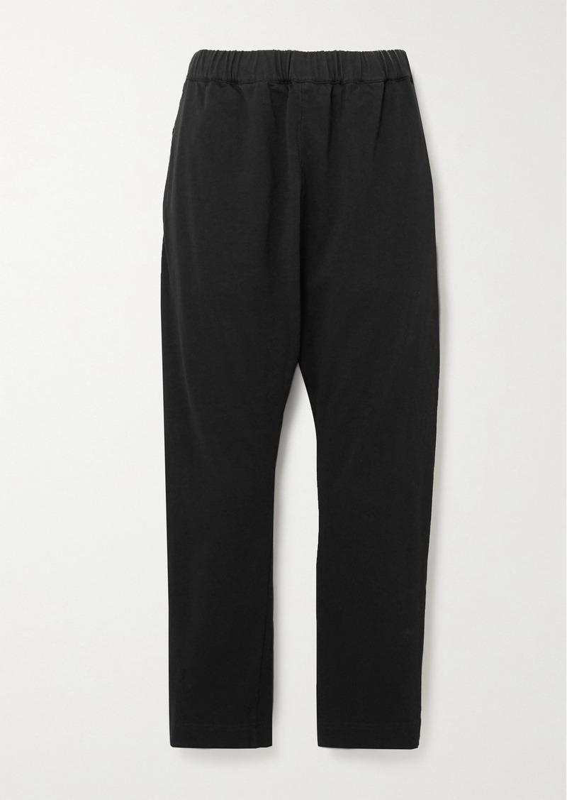 Bassike Net Sustain Cropped Organic Cotton-jersey Track Pants