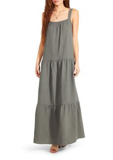 BB Dakota by Steve Madden Arianna Sleeveless Tiered Cotton Maxi Dress