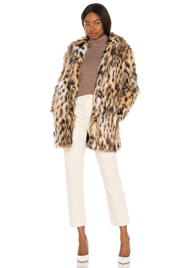 BB Dakota by Steve Madden Be Here Meow Faux Fur Coat