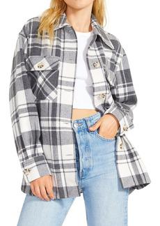 BB Dakota Busy Season Herringbone Plaid Jacket