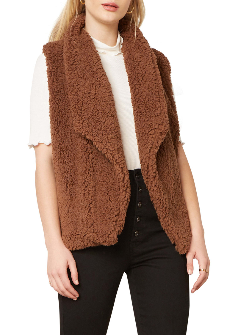 BB Dakota Fleeced I Could Do Faux Fur Vest