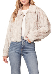 BB Dakota Just Fuzz Faux Fur Crop Jacket